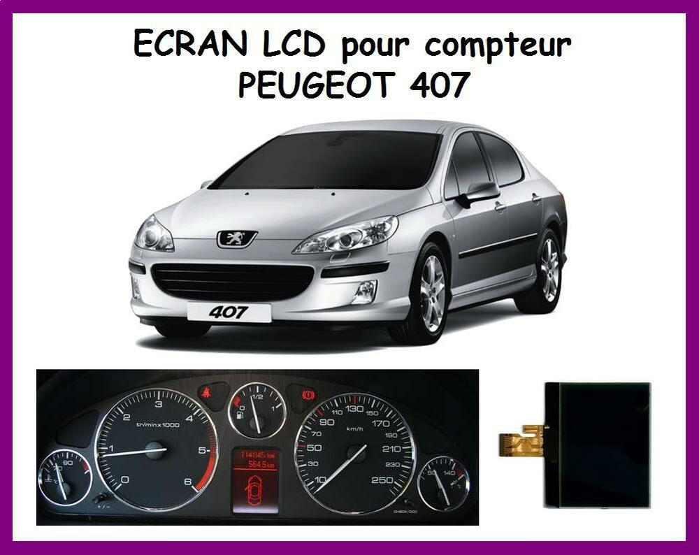 ecran lcd afficheur centrale compteur odb peugeot 407 407 sw 407 coup ebay. Black Bedroom Furniture Sets. Home Design Ideas