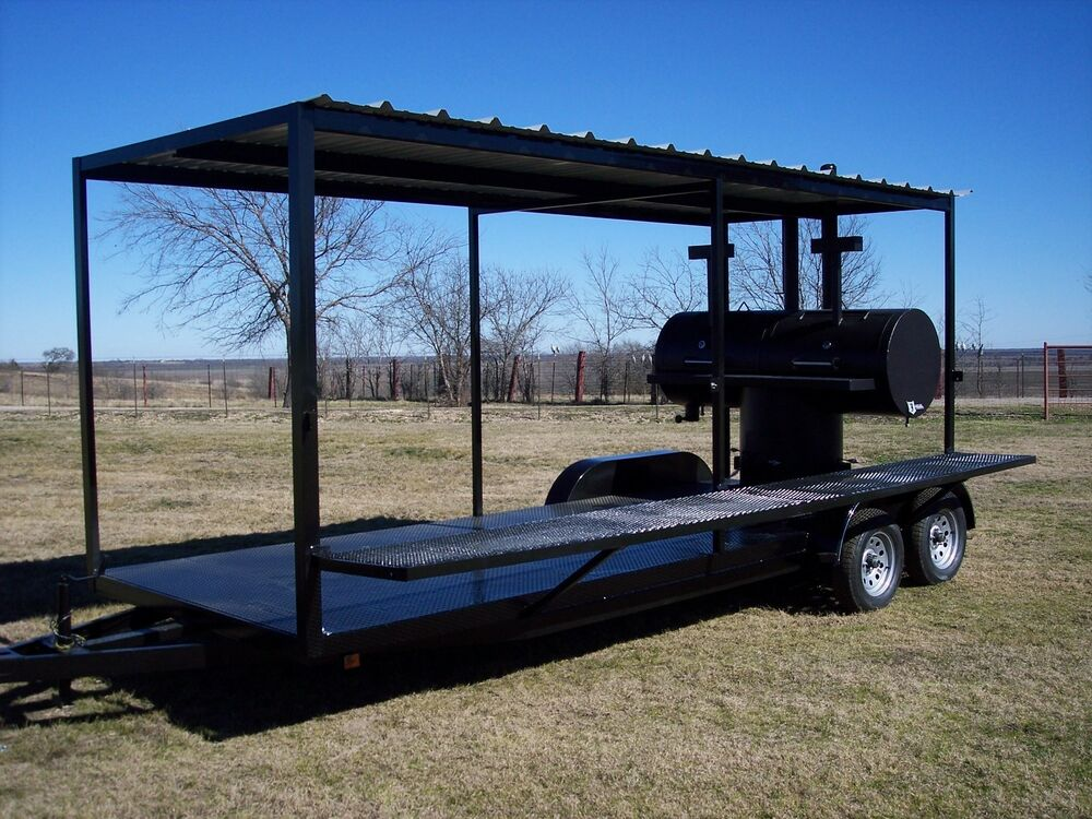 New Bbq Pit Smoker Charcoal Grill Concession Trailer Ebay
