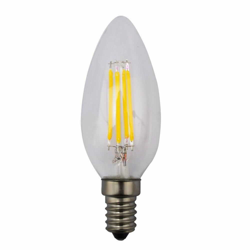 6 Pack Led Candelabra Light Bulb Dimmable 4 Watt Warm White Replaces 40w Ebay