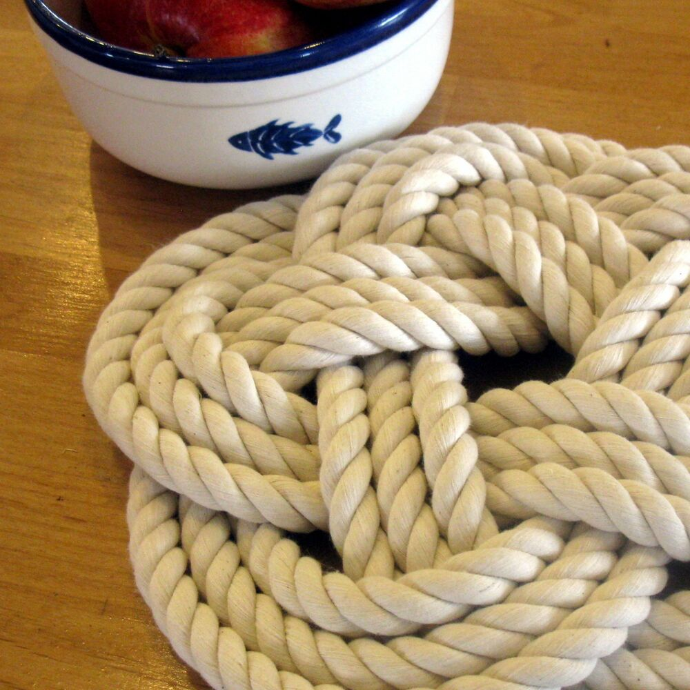 Mystic knotwork nautical sailor knot large rope trivet for Large nautical rope