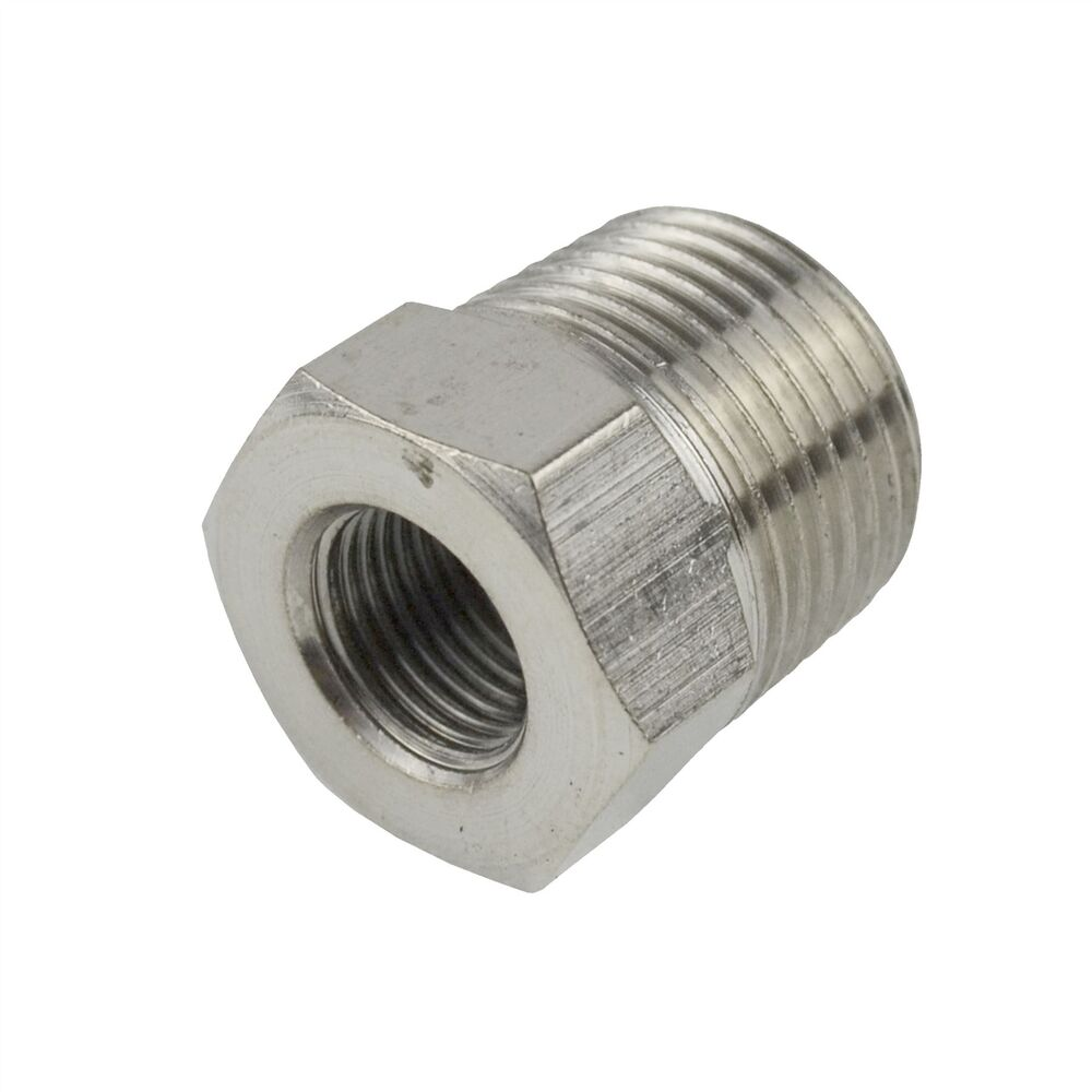 Threaded adapter hex bush bsp male to female