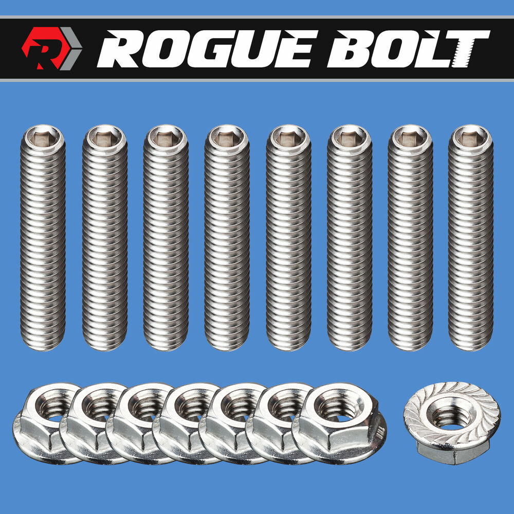 SBC VALVE COVER STUD KIT BOLTS STAINLESS STEEL SMALL BLOCK