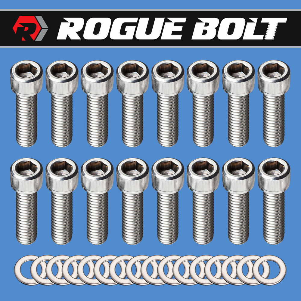 BBC INTAKE MANIFOLD BOLTS STAINLESS STEEL KIT BIG BLOCK
