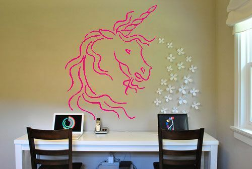 Unicorn Wall Sticker Decals Decor Vinyl Wall Art Decal