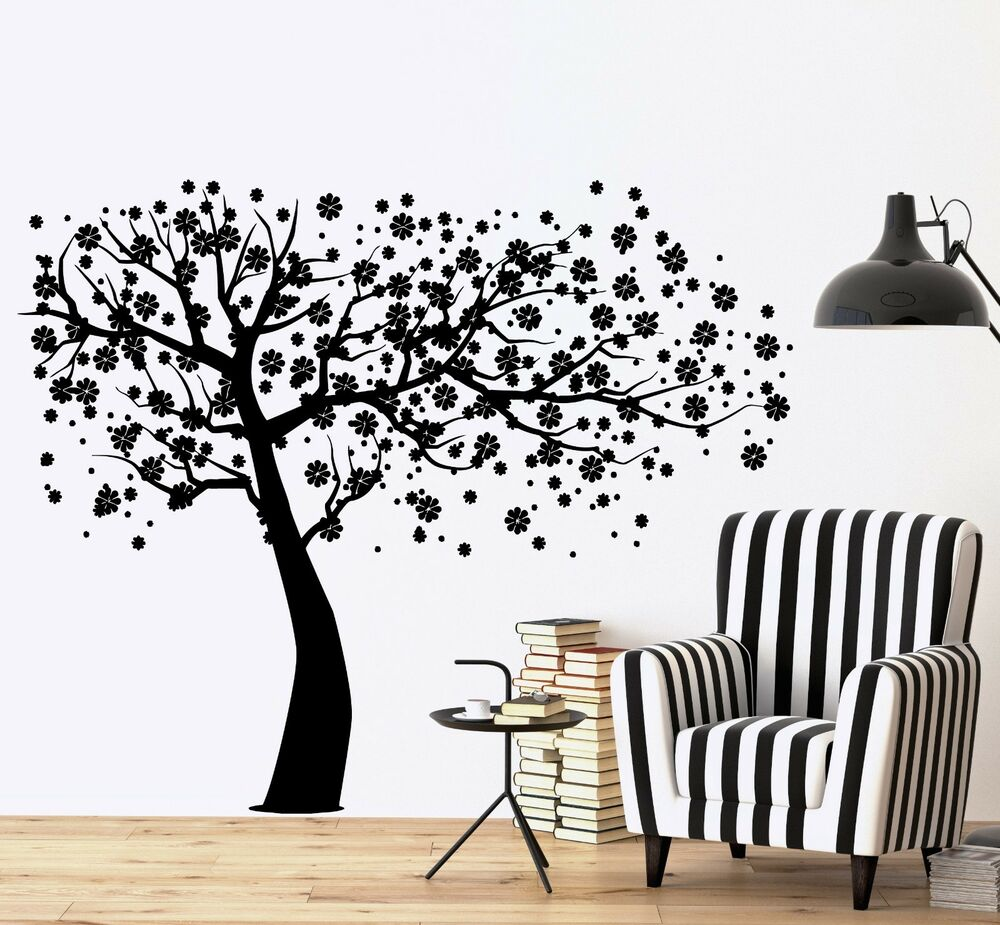 wall decal tree branch cherry tree vinyl sticker z3632 ebay. Black Bedroom Furniture Sets. Home Design Ideas