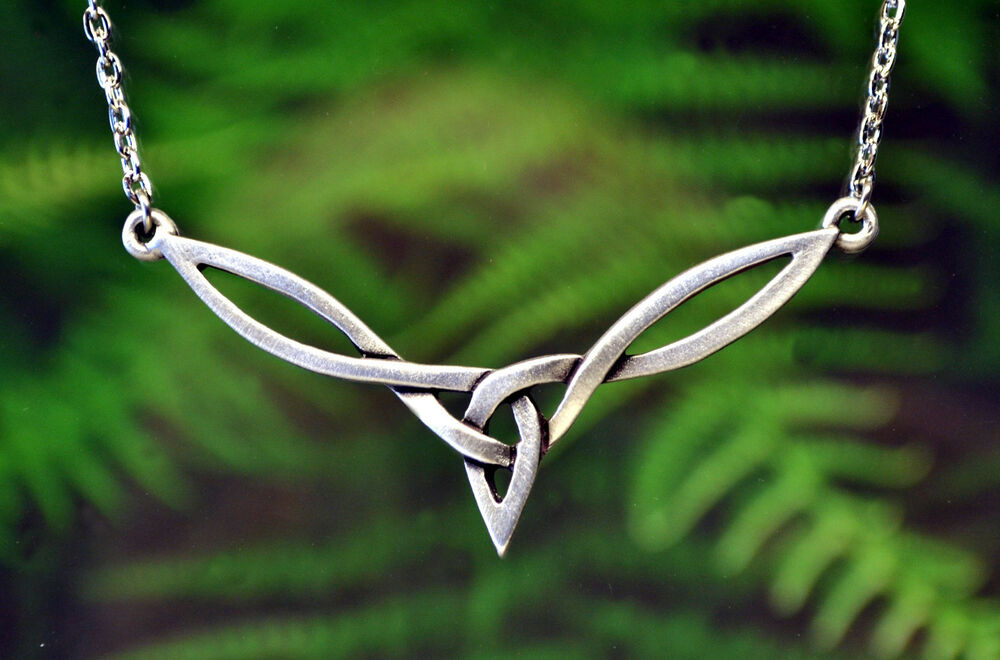 celtic knot necklace celtic jewelry in pewter by