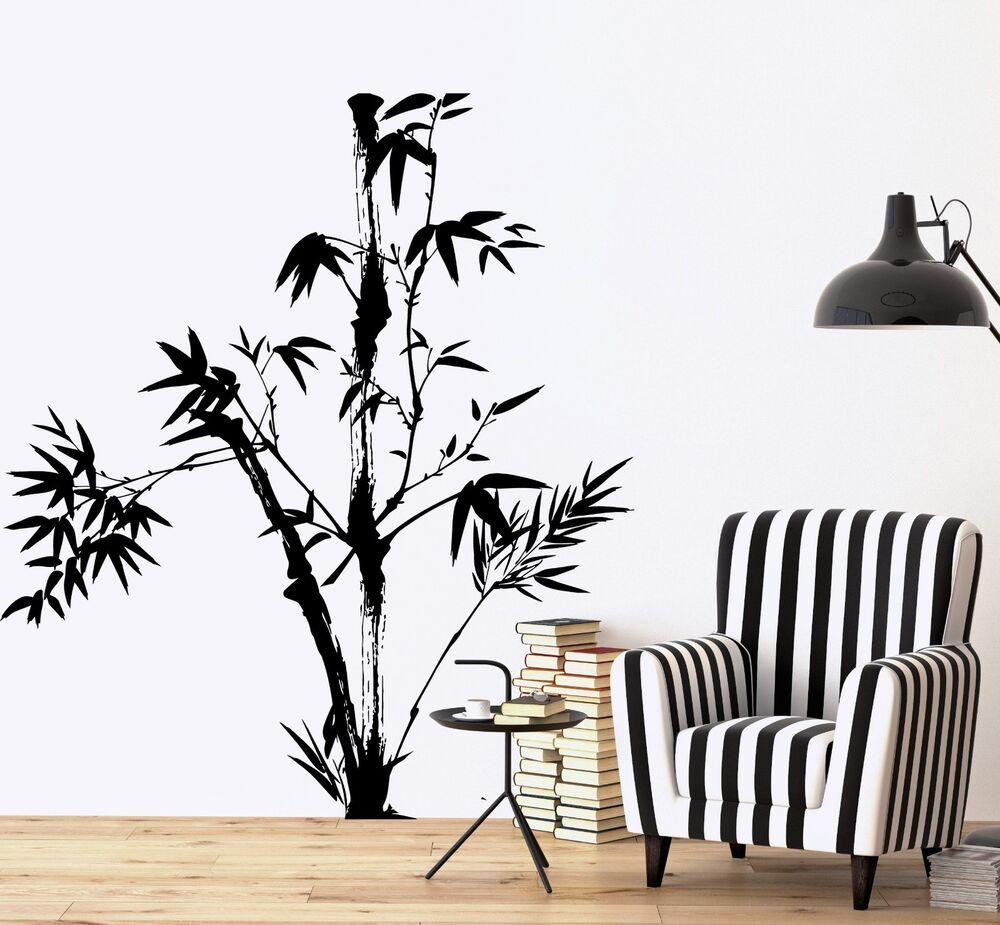 Wall Decal Tree Bamboo Bedroom Floral Vinyl Sticker Z3638