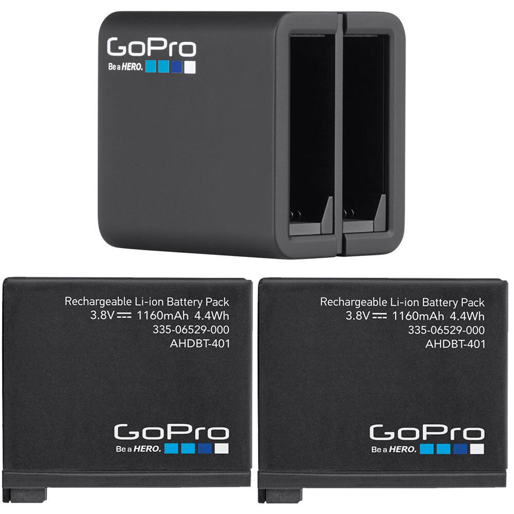 2 gopro original rechargeable battery gopro dual battery charger for hero4 ebay. Black Bedroom Furniture Sets. Home Design Ideas