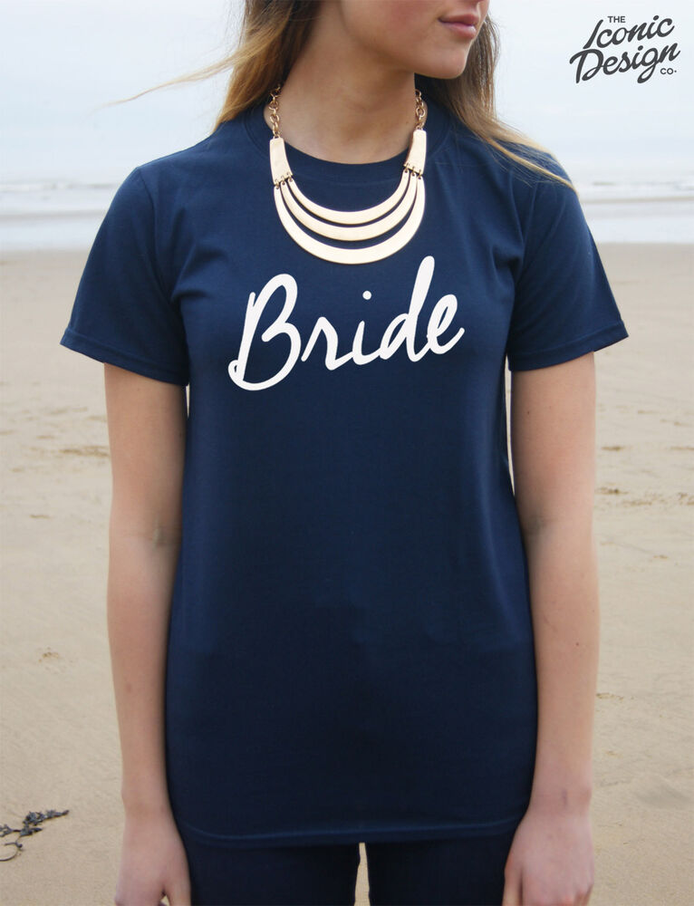 Bride T-shirt Top Wedding Hen Party Gift Married To Be Mrs eBay