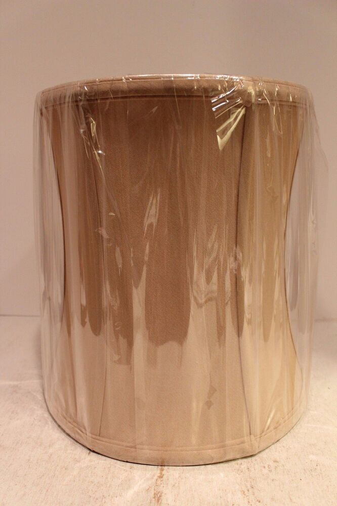 beautiful drum barrel silk lamp shade for table lamps coffee brown. Black Bedroom Furniture Sets. Home Design Ideas