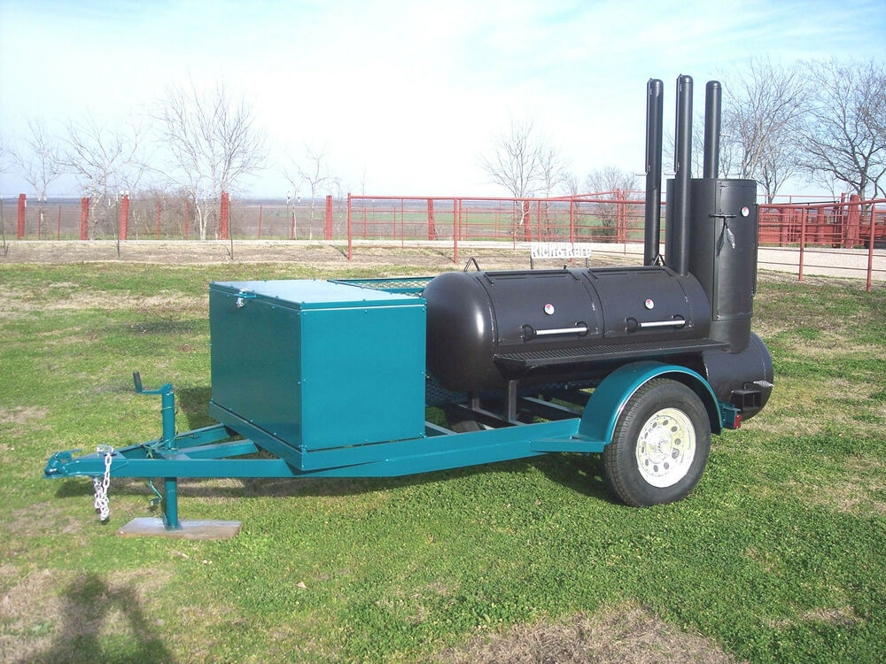 new custom bbq pit smoker charcoal grill trailer ebay. Black Bedroom Furniture Sets. Home Design Ideas