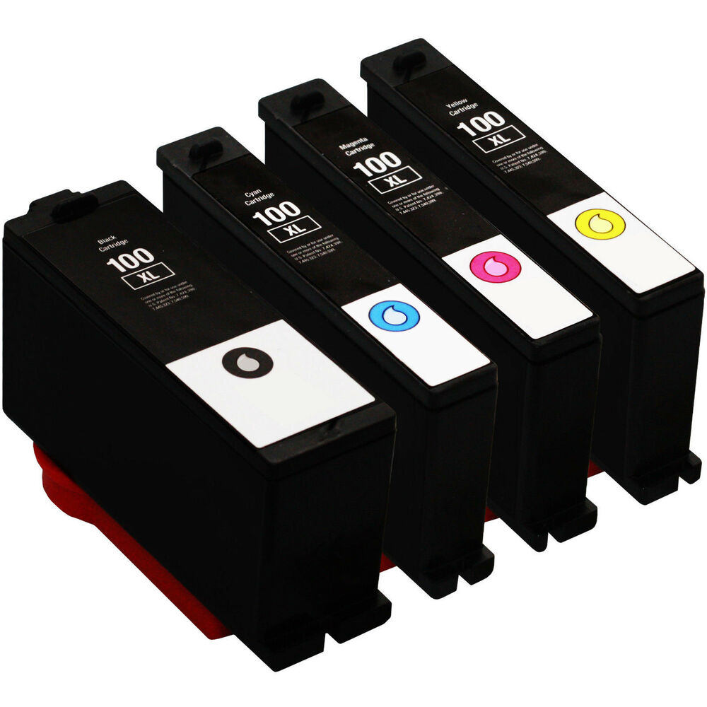 4 pack lexmark 100xl ink cartridges for impact s301 s300 s305 s302 printer ebay. Black Bedroom Furniture Sets. Home Design Ideas