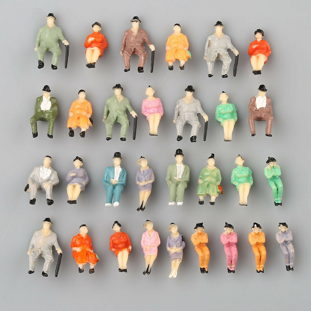 scale ho figures sitting seated painted passengers pcs well