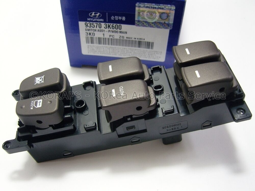 Sonata 07 genuine power window main switch 935703k600 ebay for 1997 honda crv power window switch