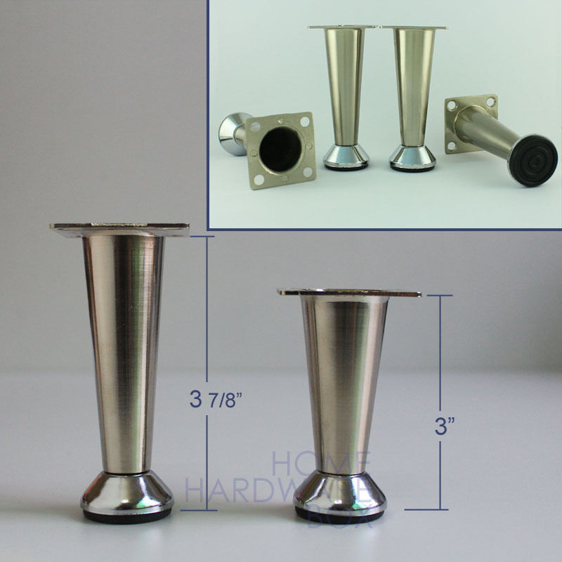 Metal Table Legs Stainless Steel Ffeet Furniture Cabinet Mini Stand Ebay