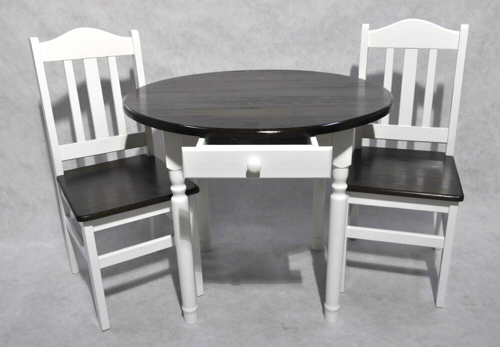 esstisch tischgruppe essgruppe set mit 2 st hle wei honig land massiv holz neu ebay. Black Bedroom Furniture Sets. Home Design Ideas
