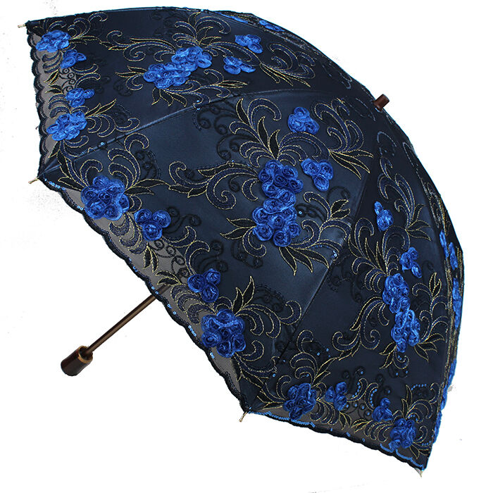 women embroidery lace parasol anti uv sun rain protection. Black Bedroom Furniture Sets. Home Design Ideas