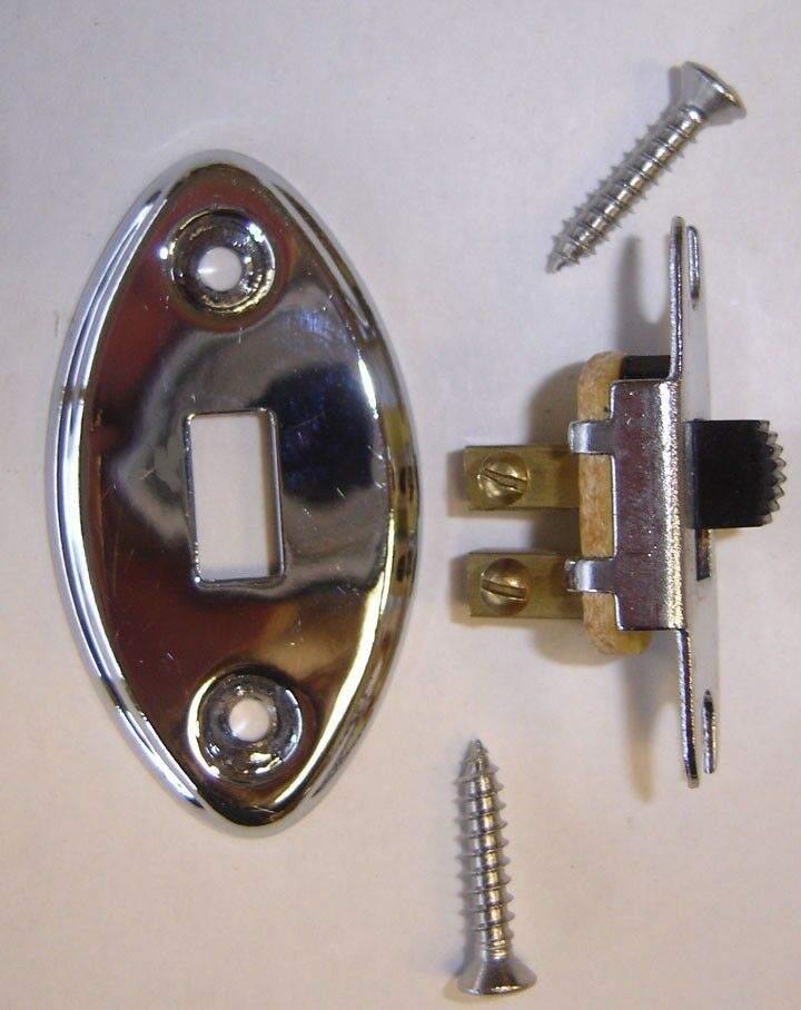 dome light switch chrome cover screws 1928 1954 pontiac buick oldsmobile ebay. Black Bedroom Furniture Sets. Home Design Ideas