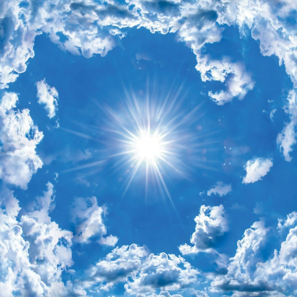 vlies wandbild tapeten fototapete poster foto himmel blau. Black Bedroom Furniture Sets. Home Design Ideas