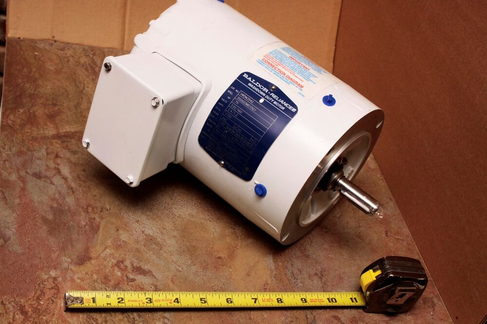Baldor Reliance 3 4 Hp Washdown Electric Motor Vwdm3542