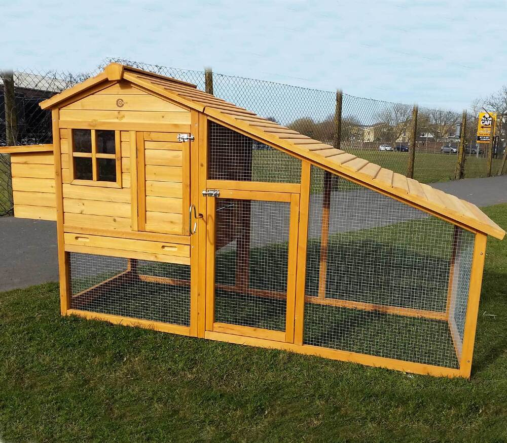 large chicken coop large chicken coop run hen house poultry ark home nest box 29614