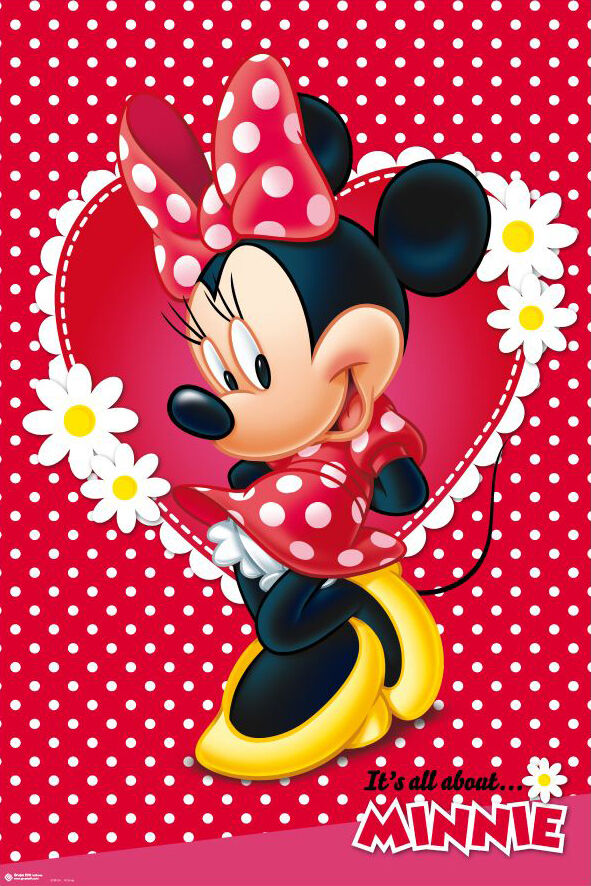 """MINNIE MOUSE DISNEY POSTER / PRINT (MICKEY MOUSE) (SIZE: 24"""" x 36"""") 4250795866176"""