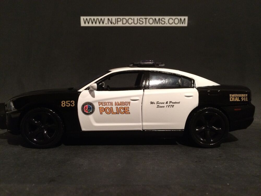 perth amboy police nj 1 24 scale replica dodge charger ebay. Black Bedroom Furniture Sets. Home Design Ideas