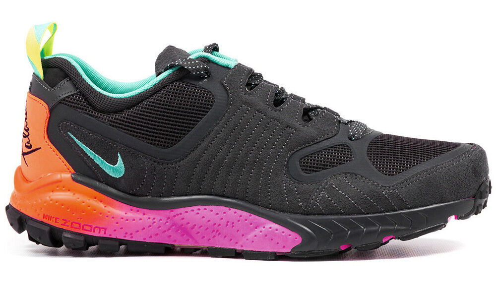 Nike Zoom Talaria 2014 Mens 684757-001 Anthracite Turquoise Crimson Shoes Sz 10