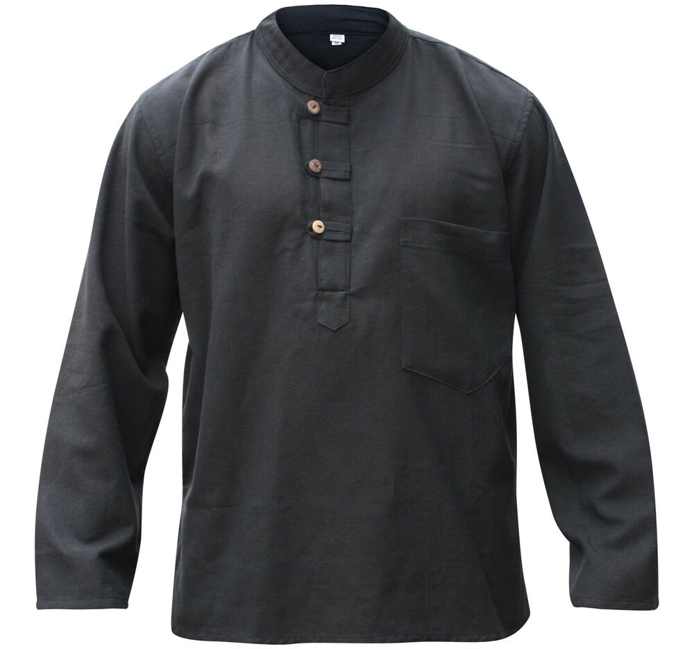 Collarless Mens Shirts