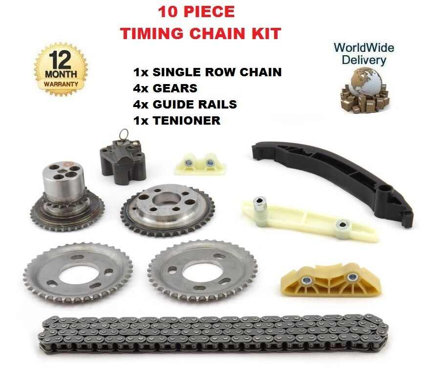 for ford transit 2 4 tdci 2006 on new 10 piece engine timing chain kit ebay. Black Bedroom Furniture Sets. Home Design Ideas