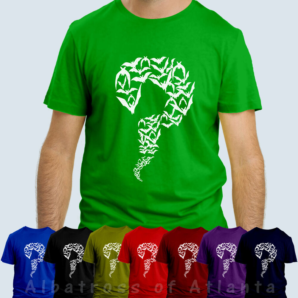 Riddler bat t shirt big bang theory sheldon copper t shirt for Riddler t shirt with bats