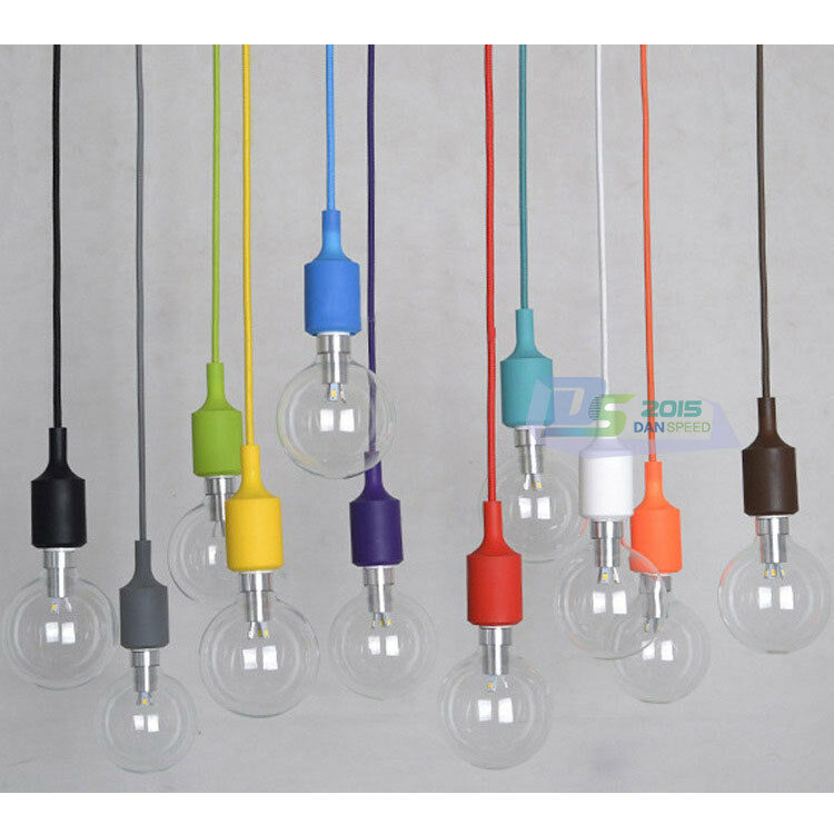 Silicone E27 Home Ceiling Pendant Lamp Bulb Holder Hanging