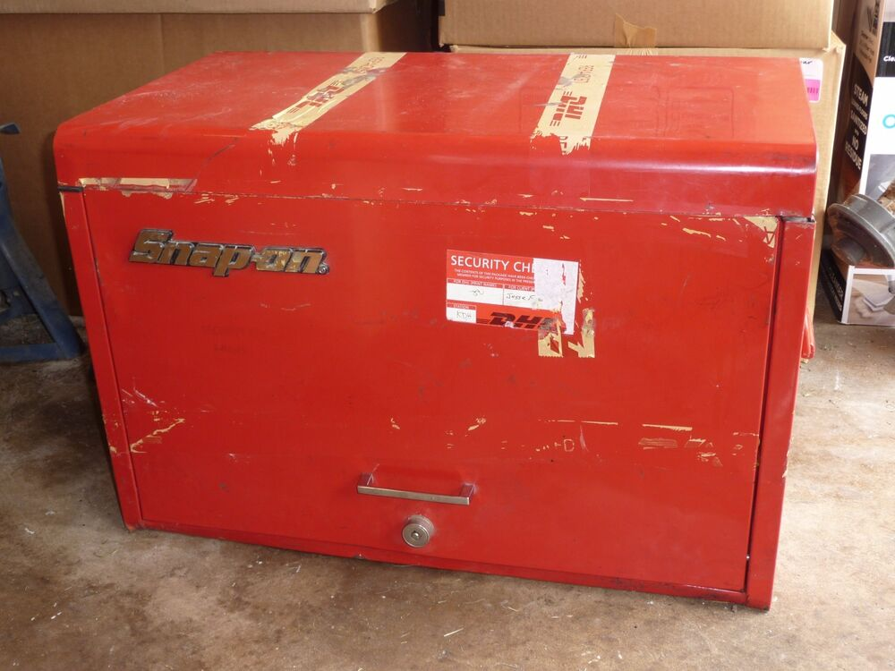 Kennedy Tool Box >> Snap on tool box top portion with tools | eBay