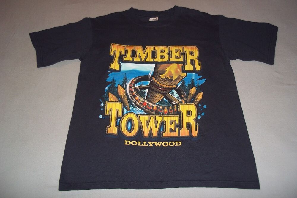Dollywood Timber Tower Dolly Parton Amusement Park Ride T