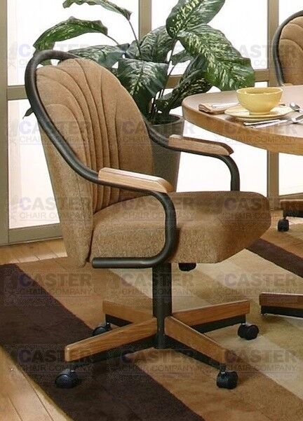 Casual Rolling Dining Caster Chair & Swivel Tilt (Set of 2 ...