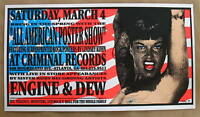 ALL AMERICAN POSTER SHOW-Silk Screen Poster Signed-KUHN