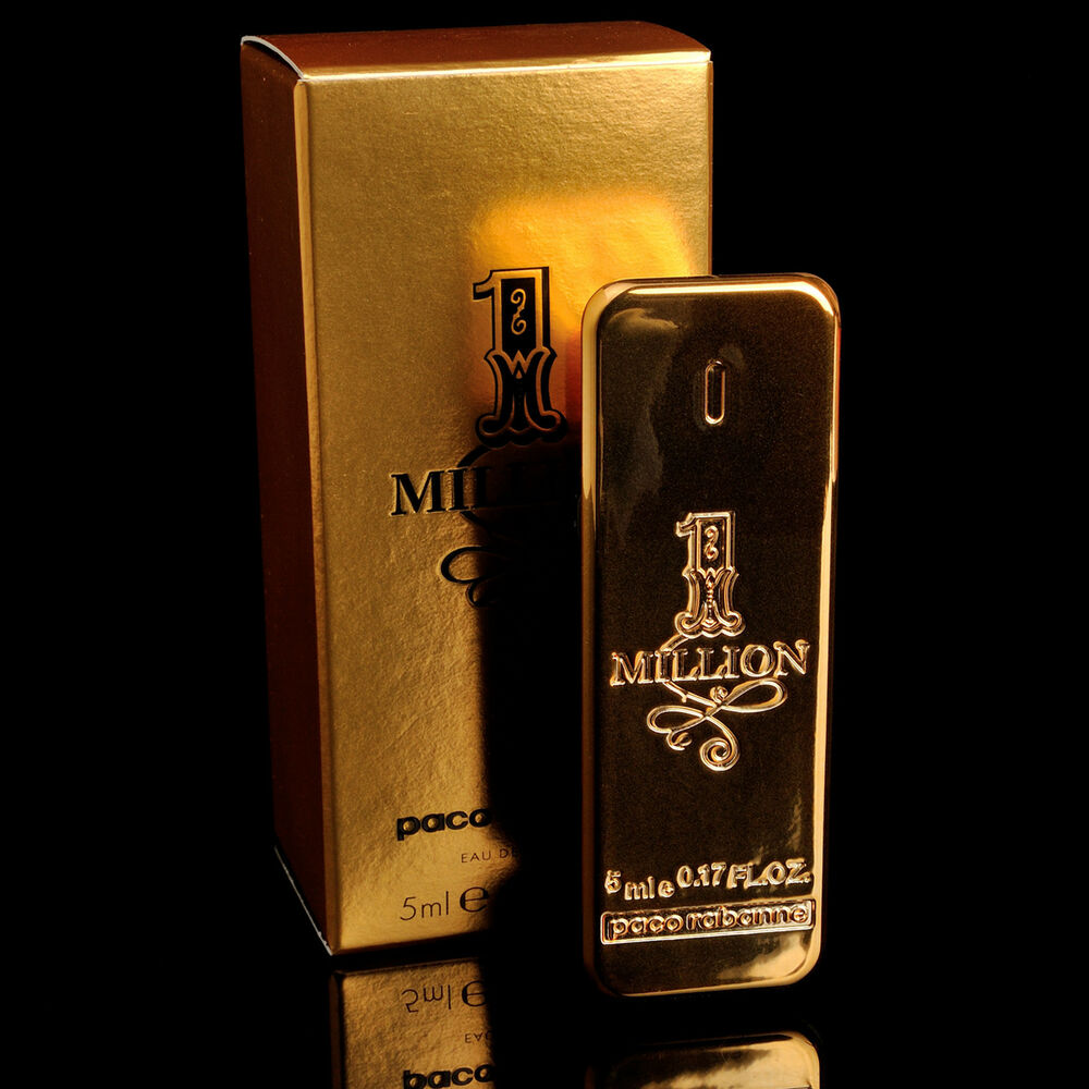 1 one million by paco rabanne edt mini perfume cologne for. Black Bedroom Furniture Sets. Home Design Ideas