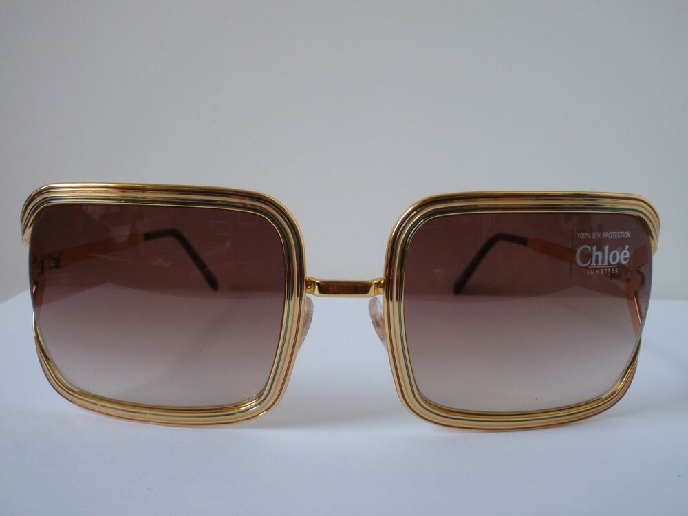 NEW Chloe 79S Gold Frame Sunglasses w/ Brown Fade Lens eBay