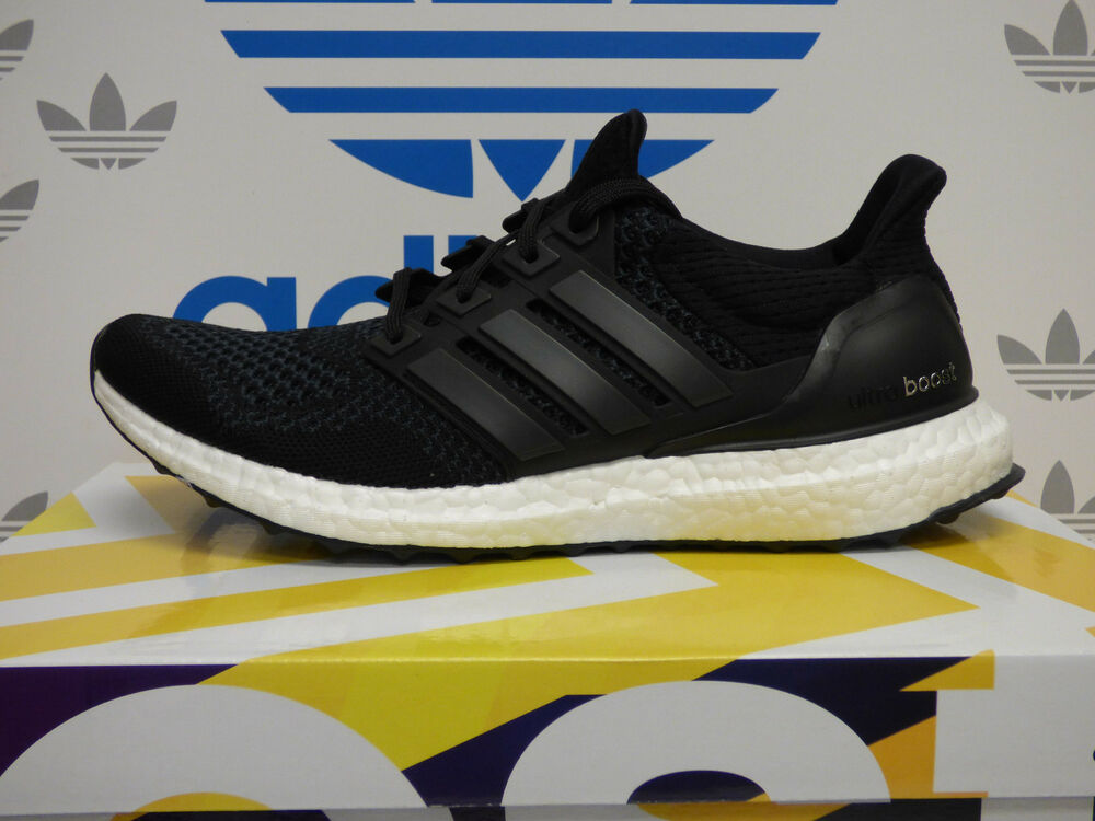 NEW ADIDAS Ultra Boost Mens Running Shoes - Black/White ...