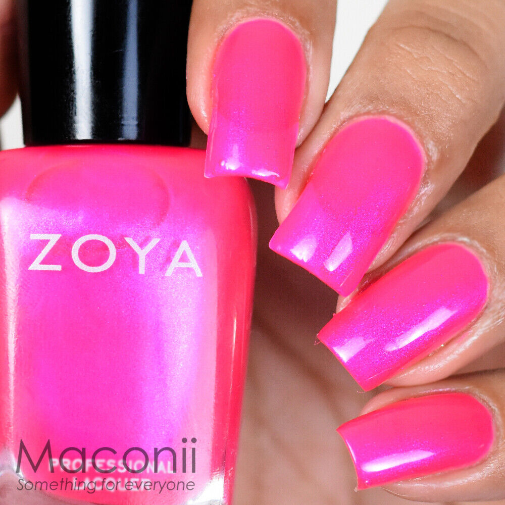 Fluorescent Neon Pink Nail Polish: Hot Bright Neon Fuchsia Pink With Blue