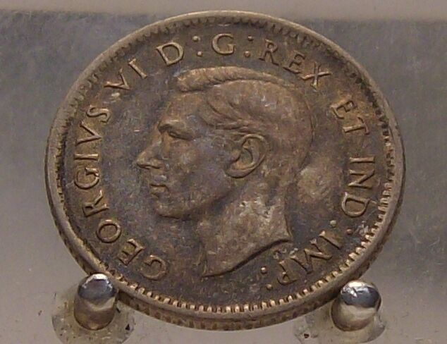 1943 Canada Silver 10 Cents, Old Silver World Ten Cent ...