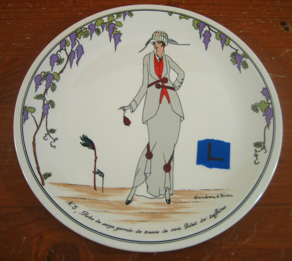 villeroy boch design 1900 salad plate l art deco nouveau women n 5. Black Bedroom Furniture Sets. Home Design Ideas