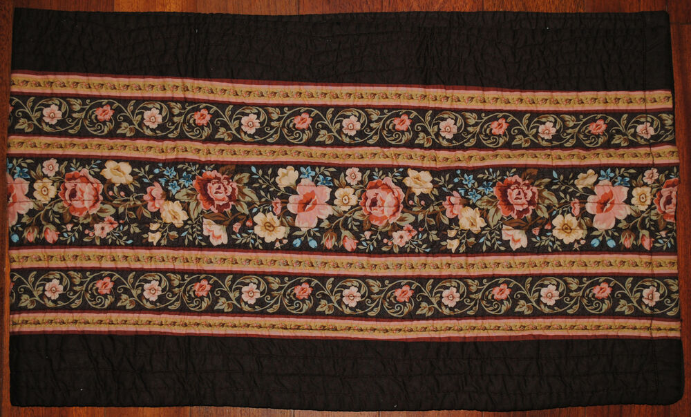 ... Brown Flower Peach Blue Tan Country JC Penney Curtain New   eBay