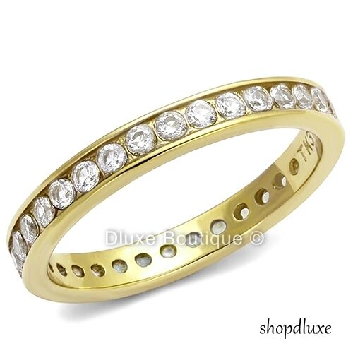 s cut 14k gold plated aaa cz eternity wedding