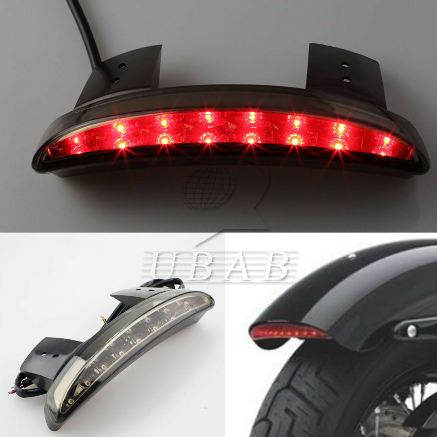 Smoke Chopped Fender Edge LED Tail Light For Harley