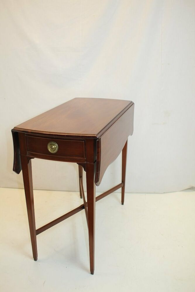 English mahogany pembroke drop leaves narrow side end for Narrow side table