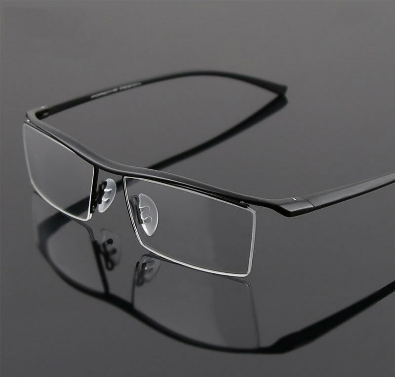 Half Frame Glasses Lenskart : Half Rimless Glasses Men Rx able Optical Eyeglasses ...