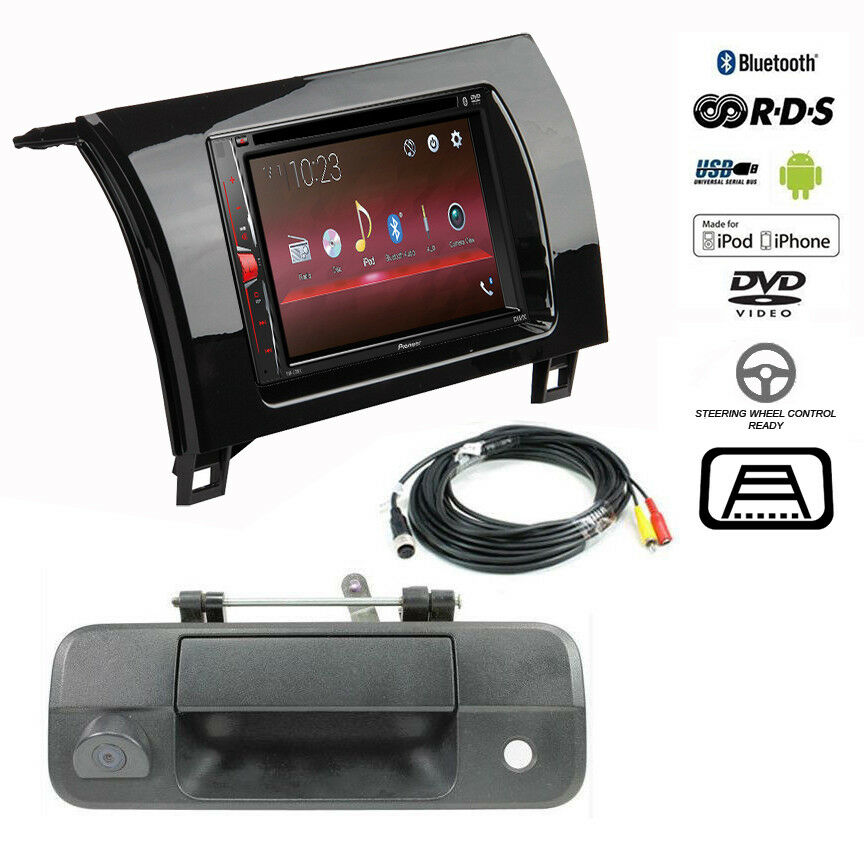 pioneer double din bluetooth stereo backup camera toyota tundra radio dash kit ebay. Black Bedroom Furniture Sets. Home Design Ideas