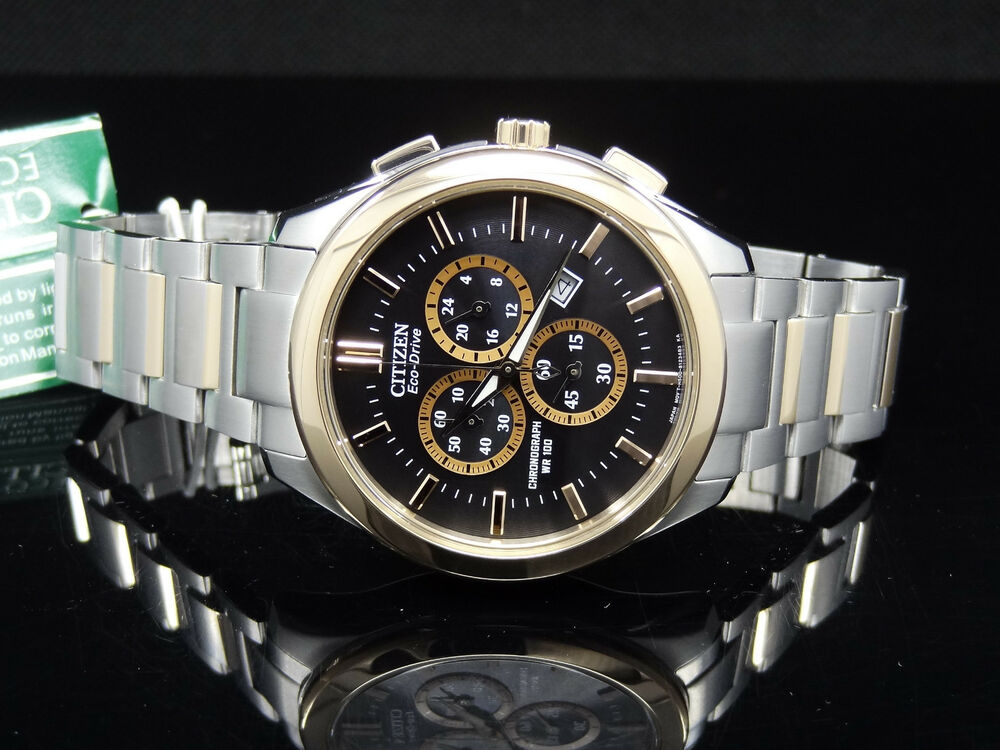 citizen at2176 58e eco drive chronograph gold