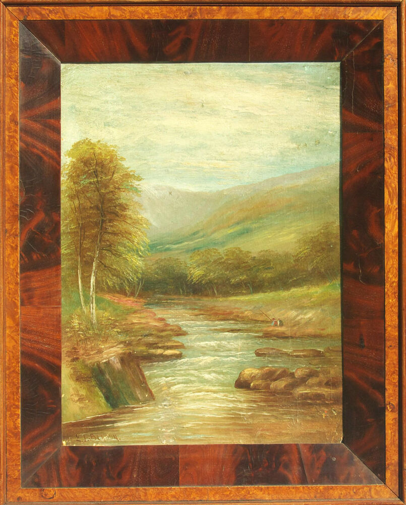 New Jersey Home Painting From J S Painting: E.J Bladon (British, 19th/20th Century) Antique Signed
